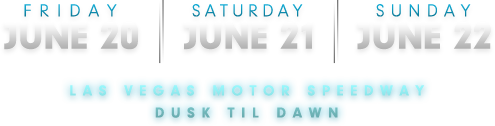 Friday June 20th, Saturday June 21st, Sunday June 22nd